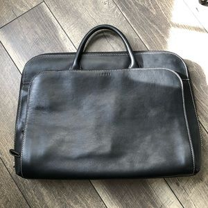 Lodis women leather laptop briefcase black leather